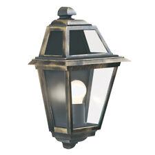 New Orleans 1 Light Cast Aluminium Black/gold Finish Outdoor Wall Light Lamp New