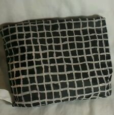 IKEA Foldable Pocket Reusable Black & White Checkered Tote Eco shopping