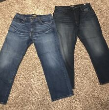 LUCKY BRAND 181 RELAXED STRAIGHT DESIGNER MEN'S JEANS - Two Pair (38 x 30)