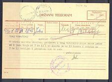 GERMANY OCCUPATION YUGOSLAVIA WW II TELEGRAM  1943 - WERSCHETZ -