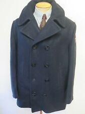 """Vintage Replica US NAVY PEA COAT Naval Clothing Kersey Wool Pembroke 46"""" Euro 56"""