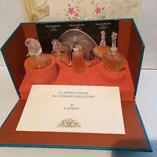 Lalique les Introuvables 1996,1997,1998 miniature parfum set, collection 3*4,5ml