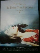 PJ HARVEY TO BRING YOU MY LOVE UK Press ADVERT 11x8""