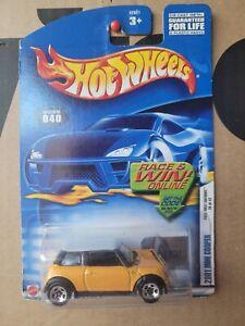Hot Wheels 2001 - MINI COOPER [YELLOW] NEAR MINT VHTF CARD GOOD 5SP WHEEL VARI