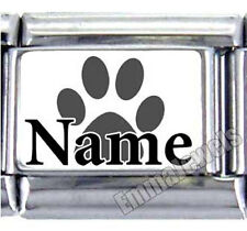 PET NAME PAW PRINT UBERRY 9MM ITALIAN PHOTO CHARM