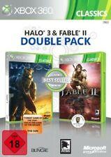 Microsoft Xbox 360 juego - Fable II + Halo 3 en el embalaje usado