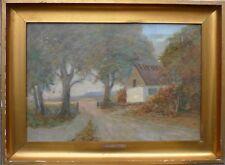 RASMUS SÖRENSEN (DANISH *1879) HÄUSCHEN AM WALDRAND - ÖLGEMÄLDE UM 1900