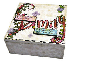 Family Memory Box Chest Keepsakes We May Not Have It All Together Wooden SG1336