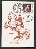 AUSTRIA MK 1972 SPANISCHE REITSCHULE WIEN PFERD HORSE MAXIMUM CARD MC CM d5158