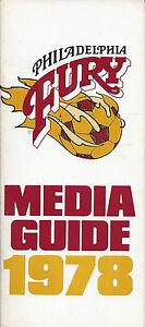 1978 Philadelphia Fury Media Guide