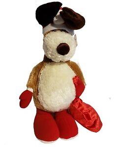 "Russ Berrie Christmas Plush Benny Santa Reindeer 25"" Stuffed Animal New"