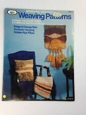 Hazel Pearson Handicrafts Weaving World Patterns Tote, Wall Hanging, Pillow 70's