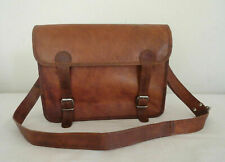 "Messenger Cross body Bag  15"" Mac-book Satchel School Shoulder Vintage Leather"