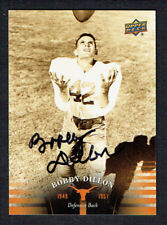 Bobby Dillon #1 signed autograph 2011 Upper Deck University of Texas Football