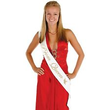 "Prom Queen Satin Sash 33"" x 4"" / 1 PC / HIGH SCHOOL PROM (B60191)"