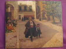 Ancienne huile sur toile signée B.M Lesbrot peintre provençal datée 1908