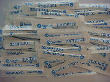 100 Individually Wrapped Toothpicks Swantex Plastic