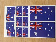 AUSTRALIAN FLAG STICKERS SHEET SIZE 21cm x 14cm