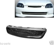 99-00 1999 2000 Honda Civic Front Hood Mesh Grille Black ABS Type R Style