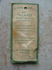 NOS Weaver BSA Monarch Remington Enfield Rifle Pivot Front Mount Scope Base 135