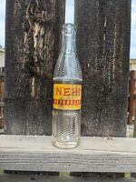 1950s NEHI Beverages 9 Oz Red & Yellow Vintage Soda Bottle Salt Lake City, Utah