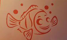1493 Schablonen Fisch Wandtattoo Wandbilder Airbrush Wanddekoration Stencil