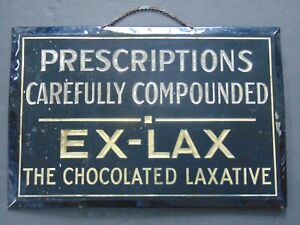 VINTAGE PHARMACY / DRUG STORE  EX-LAX SIGN