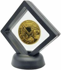 24k Gold Plated Monero Crypto coin in Floating Display Stand, UK Seller