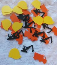 Construction Themed Party Confetti (Handmade)  150 Pieces