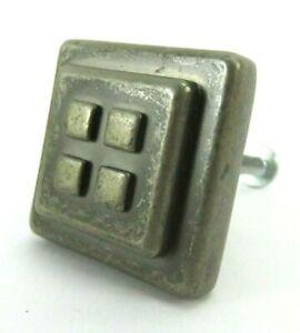 "Forgings Amerock Weathered Nickel Four Square 1 1/8"" Knob vintage 27 pack"