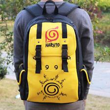 Anime Naruto PU Leather Backpack Shoulder Bag School Bag Cosplay Prop Gift