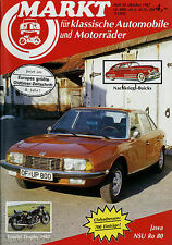 Markt 10/87 1987 Allgaier Schlepper Buick Series 40 Jawa Morris Minor NSU Ro 80
