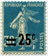 "FRANCE STAMP TIMBRE N° 217 "" SEMEUSE SURCHARGEE 25c SUR 30c "" NEUF x TB"