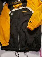 Vintage NFL Pittsburgh Steelers Starter Pro Line Windbreaker Zip Jacket w/Hood