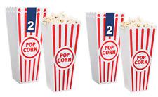 Set of 4 Movie Theatre 7.25-in. Reusable Plastic Popcorn Buckets, 2-ct. Packs