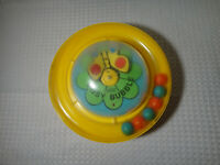 Vintage 1975 Gabriel Busy Bubble Spinning Ball Baby Toddler Toy