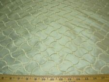 "~BTY~FABRICUT~100% SILK ""KNIGHTLY"" MIST EMBROIDERED~UPHOLSTERY FABRIC FOR LESS~"