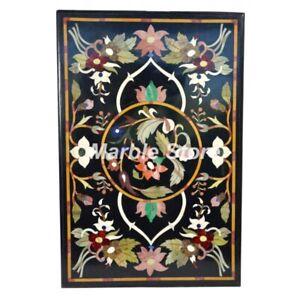 """36"""" x 24"""" Marble Table Top Semi Precious Stone Pietra Dura Home Decor"""