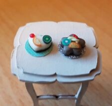 Miniature Cakes on Cake Boards X2 1 48th Scale Dolls House