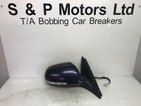 Honda Accord 03-05 OS Electric Wing Mirror 7 Wire Blue