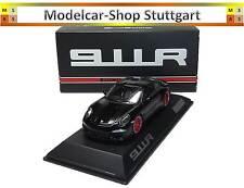 PORSCHE 911r negro / Rojo Rayas LIMITADO 991 Pieza SPARK 1:43 wax02020054