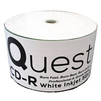 600x QUEST INKJET CD-R Full Face White Printable 52x 700MB CDR Discs A-GRADE