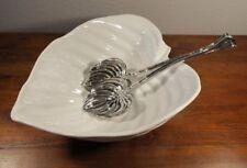 Michael Aram Hosta Collection Leaf Form Salad Serving Bowl & Utensils