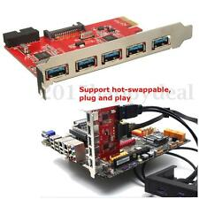 5.0Gbps 5 Port PCI-E PCI Express to USB3.0 HUB Card Adapter 15pin for WIN XP 7 8