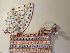 B.T. Kids girls dress set size 6Y polka dot 100% cotton ruffles sundress cute