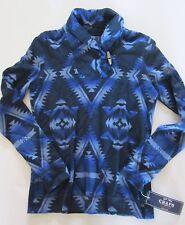 nwt CHAPS Ralph Lauren Shawl Collar Shirt Beacon Navajo Indian Blue Multi XS P
