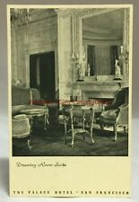 Vintage Postcard The Palace Hotel San Francisco California Drawing Room Suite