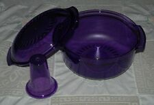 TUPPERWARE MICROWAVE STACK COOKER  PURPLE & CONE SET/3