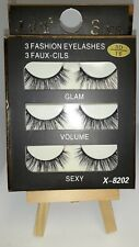 X-8202 Fashion Eyelashes 3 Pieces