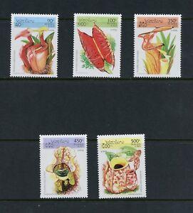 P314 Laos 1995 Flore Insecte Eating Plantes 5v. MNH